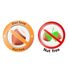 nut free vector image vector image