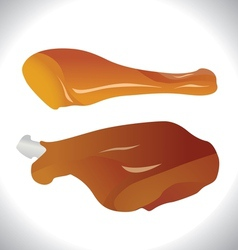 Roasted chicken legs vector image vector image