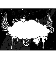 Abstract black and white background with stars and vector image