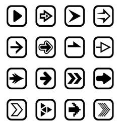 Arrow icons1 vector image vector image