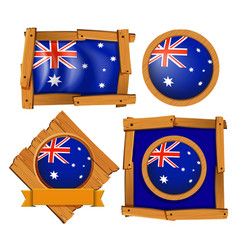 australia flag on different frame designs vector image vector image