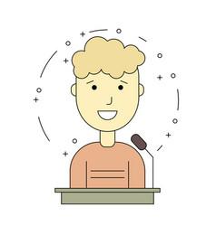 avatar man on tribune for speech vector image vector image