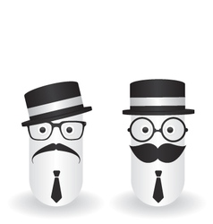 Funny character hipster and gentleman vector image