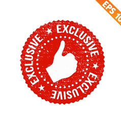 Grunge exclusive rubber stamp - - EPS10 vector image