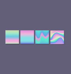 hologram gradient set of four backgrounds with vector image