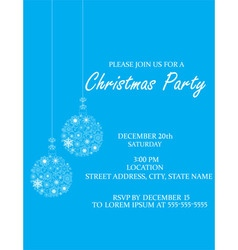 Christmas ball invitation vector