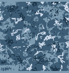 digital urban camouflage seamless pattern vector image