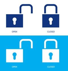 padlocks set vector image