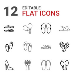12 pair icons vector