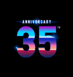 35 years anniversary celebration logotype vector image