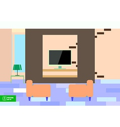 Abstract Flat Interior Desing vector image
