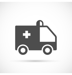 Ambulance simple icon vector