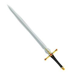 an ancient sword vector image