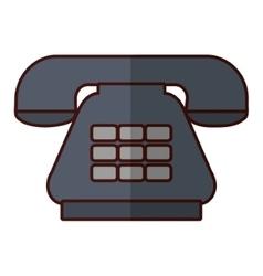 Antique telephone communication vector
