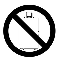 ban baggage and luggage vector image vector image