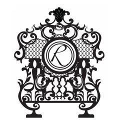 Baroque ornament decor element vector