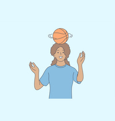basketball sport recreation summertime concept vector image