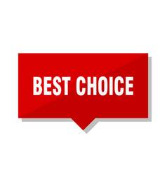 Best choice red tag vector