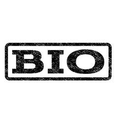 Bio watermark stamp vector