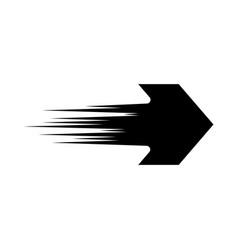 Black arrow icon vector
