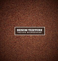 brown denim texture vector image