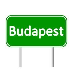Budapest road sign vector