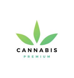 cannabis logo icon vector image