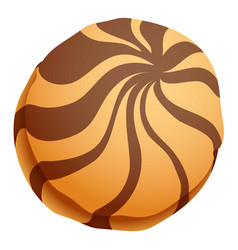 choco biscuit icon cartoon style vector image
