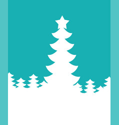 Christmas tree silhouette new year background vector