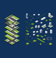 City isometric concept vector