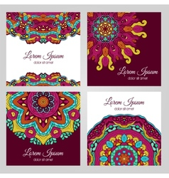 Colorful floral design elements vector