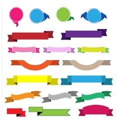 Colorful ribbon vector