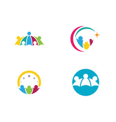 Community care logo template icon vector