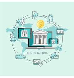 Concepts of Internet Banking Online Payment vector image