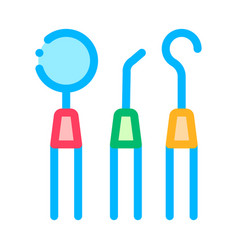 dentist stomatology equipment tool icon vector image