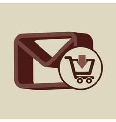 E-commerce store email envelope digital vector