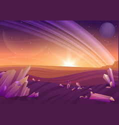 Fantasy alien landscape another planet nature vector