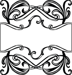 Filigree ornament frame vector