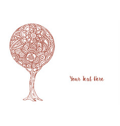 Flower tree mandala art decoration vector