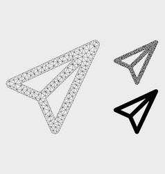 Freelance mesh 2d model and triangle mosaic vector