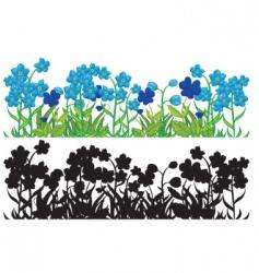 Garden border vector