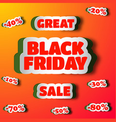 great sale on black friday design concept vector image