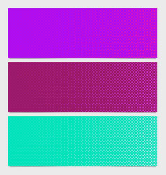 halftone dot pattern banner design - from circles vector image