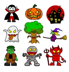 Halloween character cartoon vector