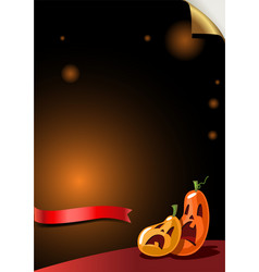 halloween party background with scary pumpkins vector image