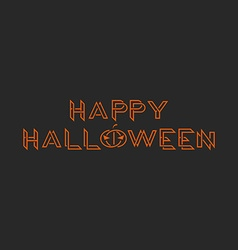 Happy halloween orange text monogram mockup vector