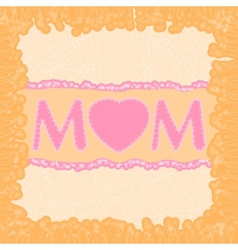 Happy Mothers Day dard template EPS 8 vector image