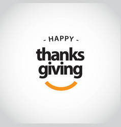 Happy thanks giving template design vector