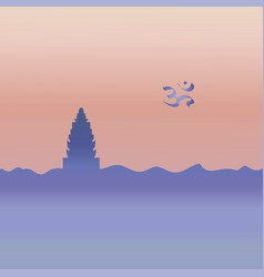 Hinduism temple and symbol vector