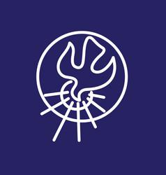 holyspirit circle vector image